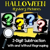 Halloween Subtraction Color By Number 2-Digit With And Without Regrouping