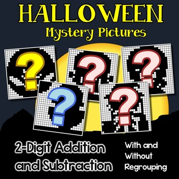 hidden pictures halloween adding and subtracting color by number  hidden pictures halloween adding and subtracting color by number worksheets