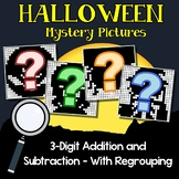 Halloween Color By Number Addition And Subtraction 3 Digits With Regrouping