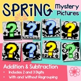 Math Coloring Pages Spring Addition And Subtraction Worksheets Mystery Pictures