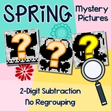 Spring Subtraction No Regrouping, 2-Digit Spring Subtraction Coloring Sheet