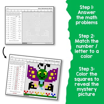 Spring 3 Digit Subtraction No Regrouping