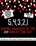 54321 - Graphic Organizer Set for ANY Nonfiction Text