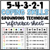 54321 Grounding Technique/Coping Skill | Classroom Poster