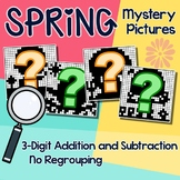 Mystery Picture Addition And Subtraction Worksheets Spring Math Coloring Sheets