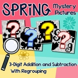 Spring Color By Number Addition And Subtraction 3 Digits With Regrouping