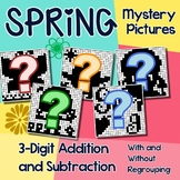 Spring Color By Number Addition & Subtraction Strategy Worksheet Mystery Picture