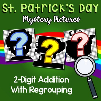St Patrick's Day 2 Digit Addition With Regrouping