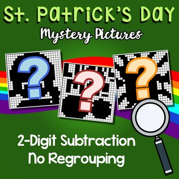St Patrick's Day 2 Digit Subtraction No Regrouping