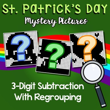 St. Patrick's Day 3 Digit Subtraction With Regrouping