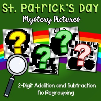 St. Patrick's Day 2 Digit Addition and Subtraction No Regroup