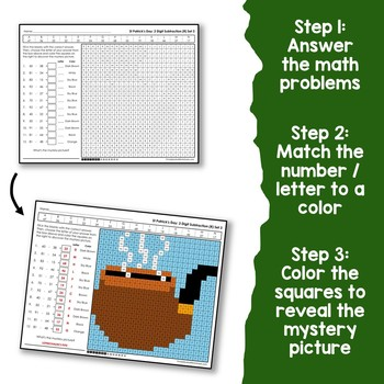 St. Patrick's Day 2 Digit Addition and Subtraction With Regroup
