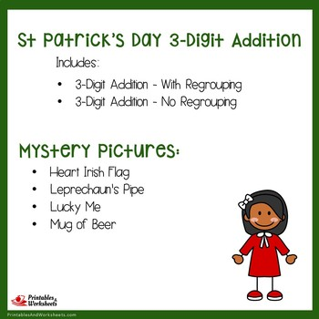 St. Patrick's Day 3 Digit Addition