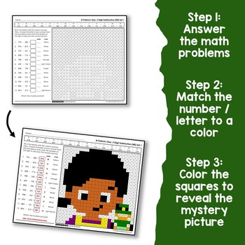 St. Patrick's Day 3 Digit Addition and Subtraction No Regroup