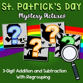 St. Patrick's Day 3 Digit Addition and Subtraction With Regroup