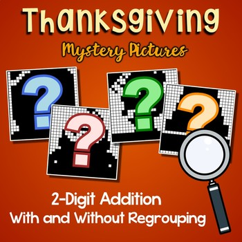 Math Worksheets On Thanksgiving 2-Digit Addition Coloring Pages