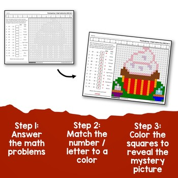 Addition And Subtraction 2 Digit Thanksgiving Coloring Math, No Regrouping