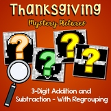 Thanksgiving Color By Number Addition And Subtraction 3 Digits With Regrouping