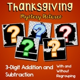 3 Digit Adding And Subtracting, Thanksgiving Coloring Math Worksheets