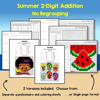 Summer 2 Digit Addition No Regrouping