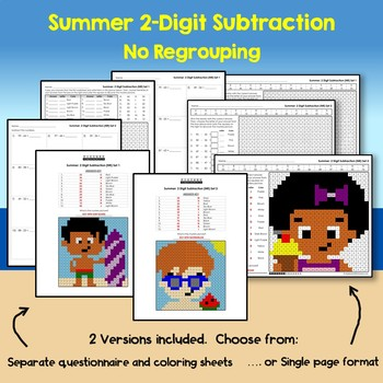 Summer 2 Digit Subtraction No Regrouping