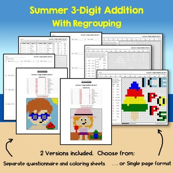 Summer 3 Digit Addition With Regrouping