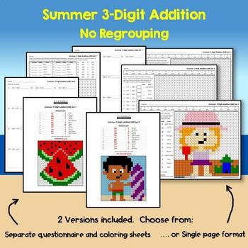 Summer 3 Digit Addition No Regrouping