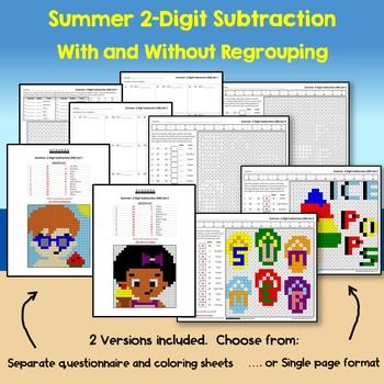 Summer 2 Digit Subtraction