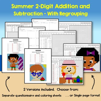 Summer 2 Digit Addition and Subtraction With Regroup