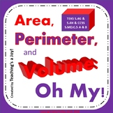 5.4G, 5.4H Area, Perimeter & Volume, Oh My!