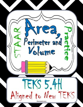 STAAR REVIEW 5.4H Perimeter, Area and Volume 3 days of Activities and Final Test