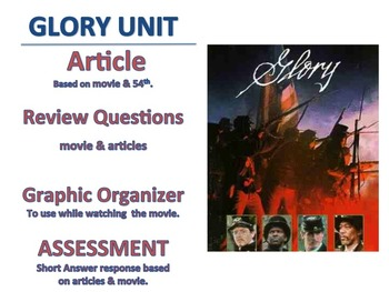 54th Mass, movie Glory, article historical inaccuracies, test, graphic organizer