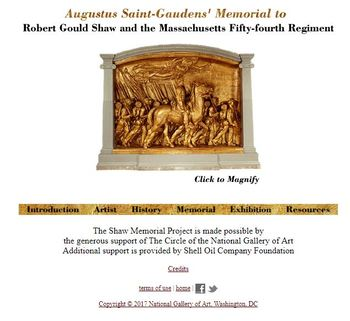 54th Massachusetts Web Quest Utilizing the National Gallery of Art Web Site