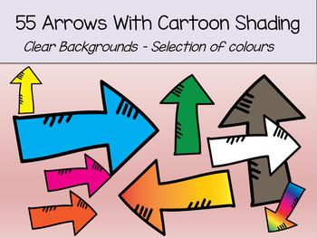 55 Cartoon Shaded Arrows