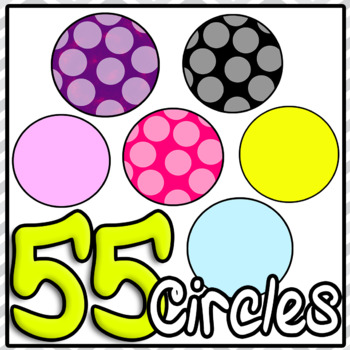 Circle Clipart Lots Huge Bundle For PowerPoint or Teachers