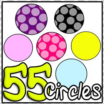 Circle Clipart Lots Huge Bundle PowerPoint or TeacherspayTeachers