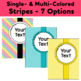"""57 Editable Binder Covers & Spines """"Crazy for Color"""" Dots, Chevron, Stripes"""