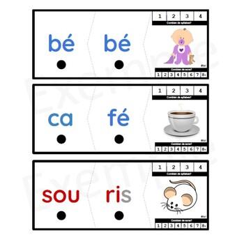 55 FRENCH / 55 Casse-têtes PUZZLES pratiquez les syllabes, les sons, la lecture