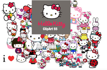 55 Hello Kitty ClipArt-Printable Hello Kitty Heroes PNG Images-Digital Clip Art