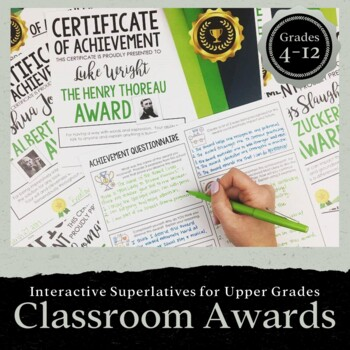 55 Interactive Classroom AWARDS: End of the School Year Activity