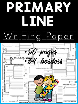 Primary Line Writing Paper - With Drawing Frames - Set 1