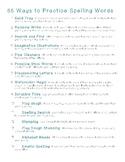 55 Ways to Practice Spelling Words