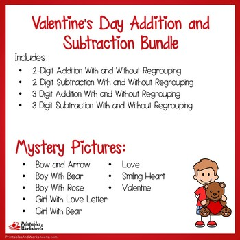 Valentines Day Addition and Subtraction