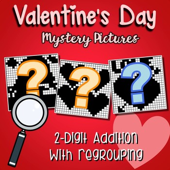 Valentines Day 2 Digit Addition With Regrouping