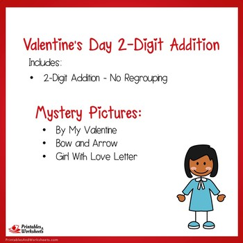 Valentines Day 2 Digit Addition No Regrouping