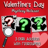 Valentines Day 3 Digit Addition With Regrouping