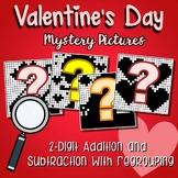 Valentines Day 2 Digit Addition and Subtraction With Regroup