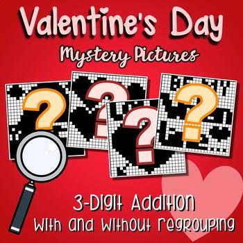 Valentines Day 3 Digit Addition