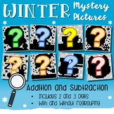 Fun Addition & Subtraction Worksheets, Winter Math Sheets Hidden Math Pictures