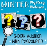 3rd Grade Math Winter Three Digit Addition Coloring Sheet With Regrouping